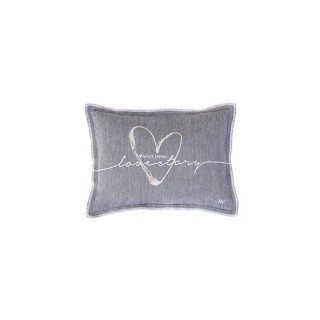 Grey love story cushion