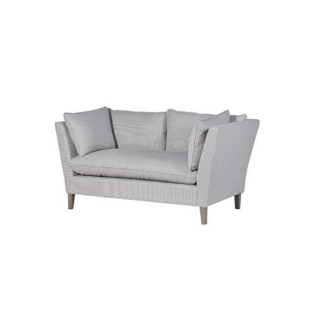 Blue stripe 2 seater sofa