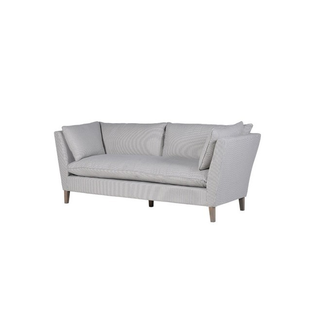 Blue stripe 3 seater sofa