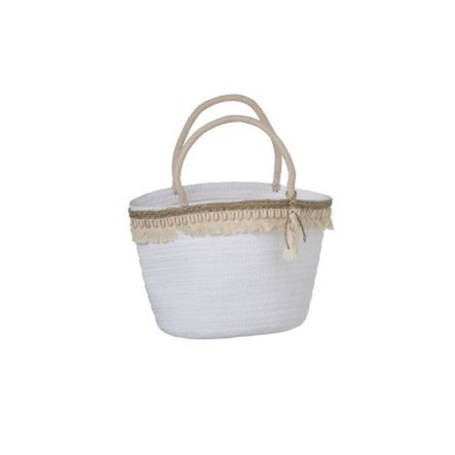 Beach bag with shells