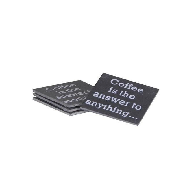 """Coffee is the answer"" Coasters"