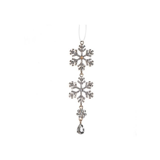 Crystal snowflake drop
