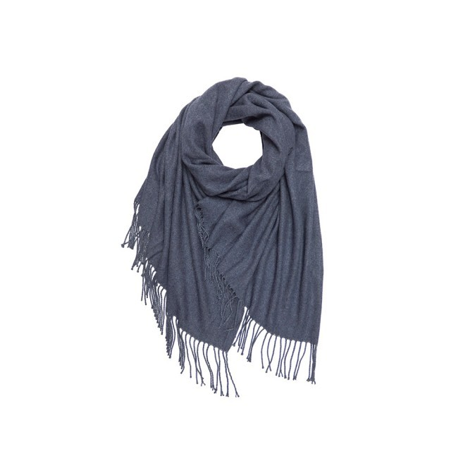 Denim cashmere mix scarf