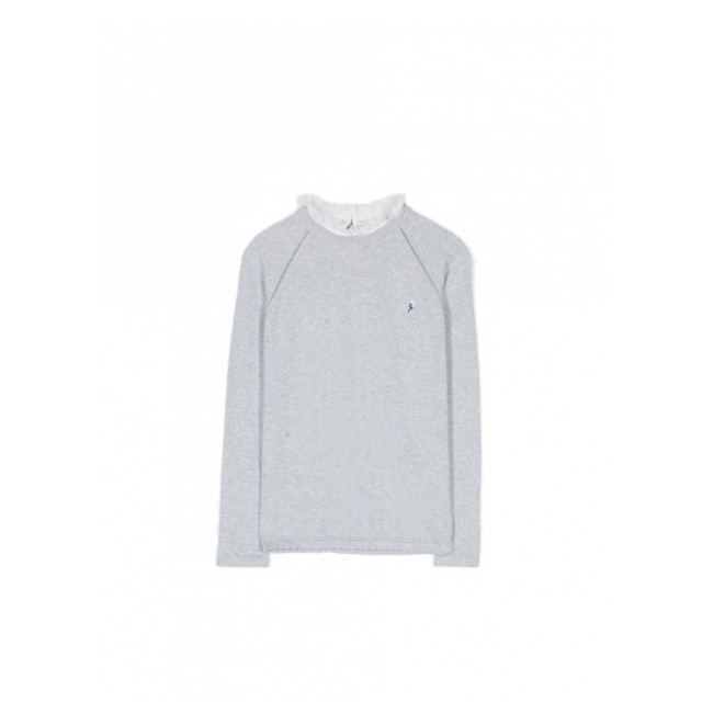 Grey jumper with white frill collar