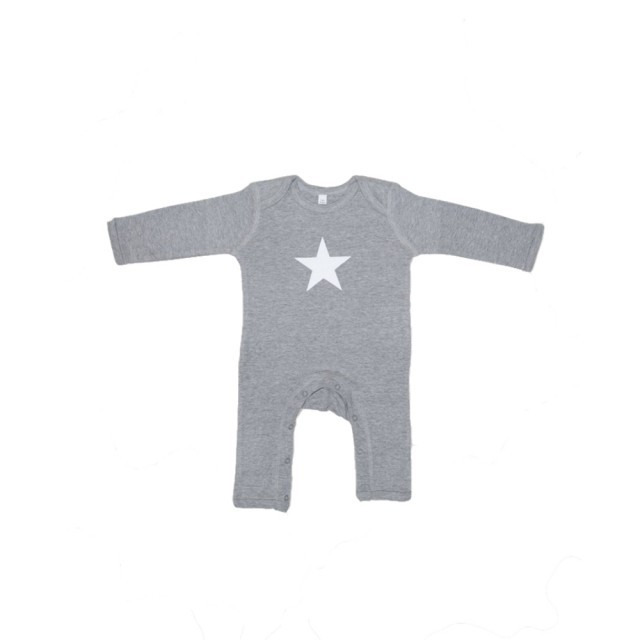 Grey star romper