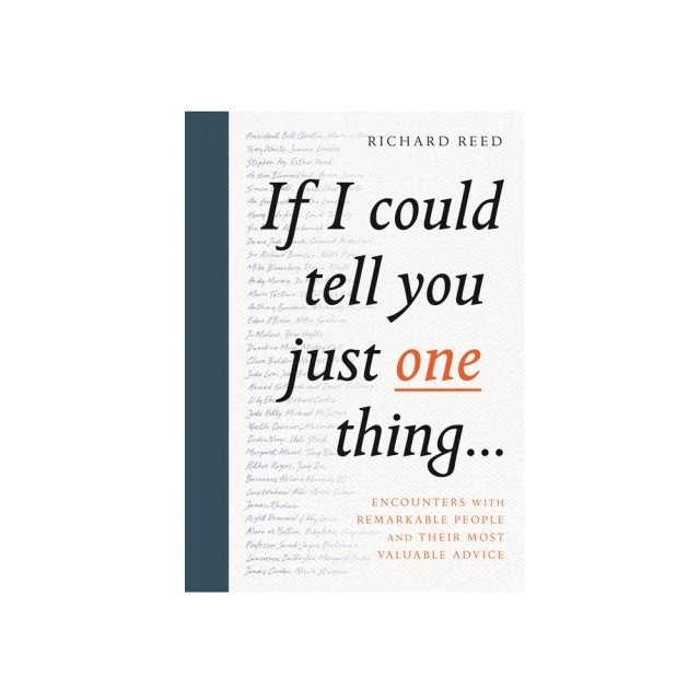If I could tell you one thing book