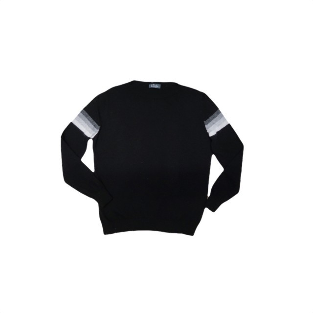 Lindy black/multi stripe on sleeve jumper
