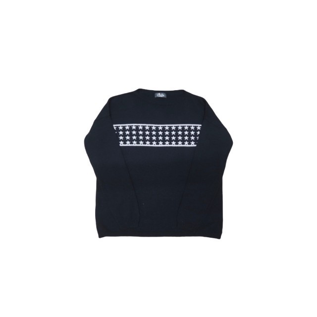 Navy jumper with white stars across front