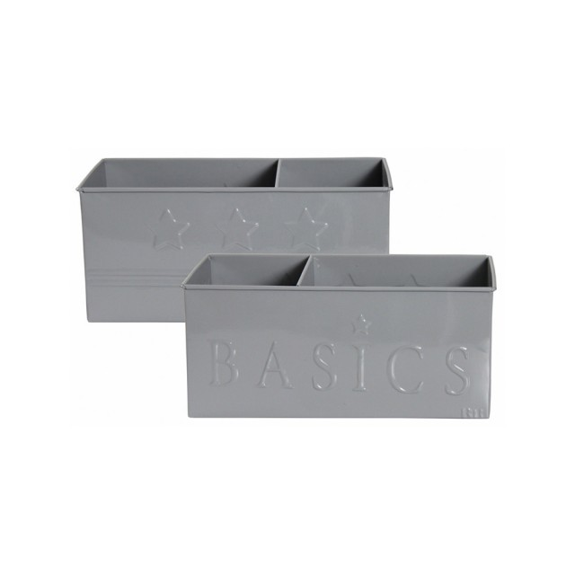 Grey Baby basics storage tin