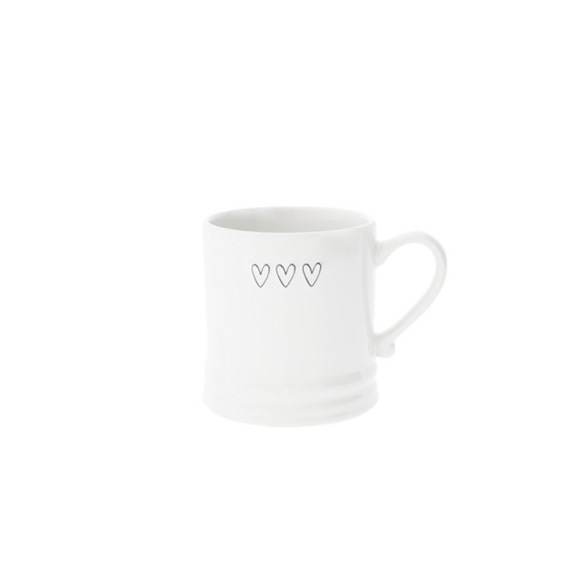 Small triple heart mug - grey