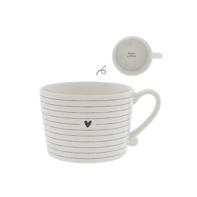 Stripes & heart cup