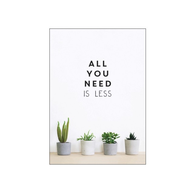 All you need is less book