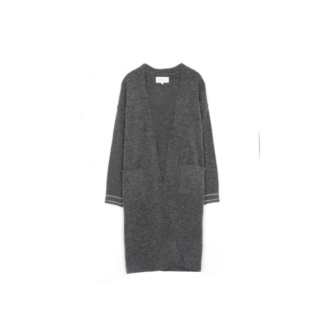 Anthracite ring cardigan