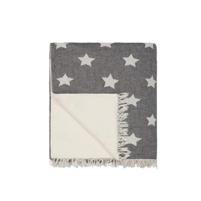 Black Star fleece throw