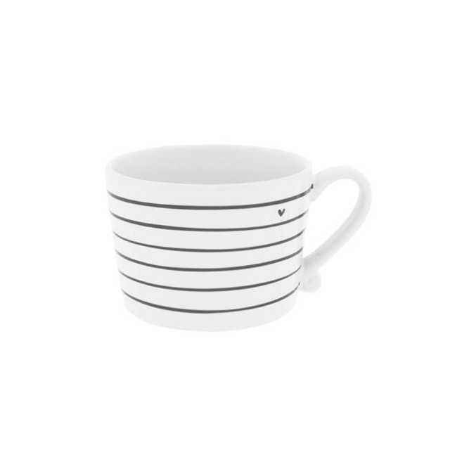 Black stripe mug with heart