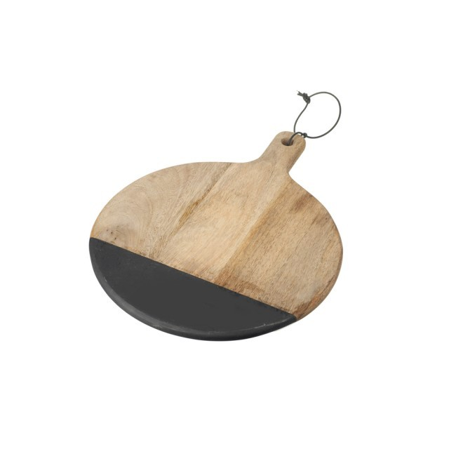 Black dip wooden chopping board