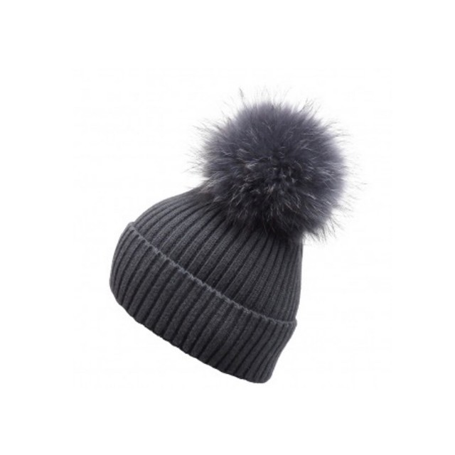 Charcoal Grey bobble hat