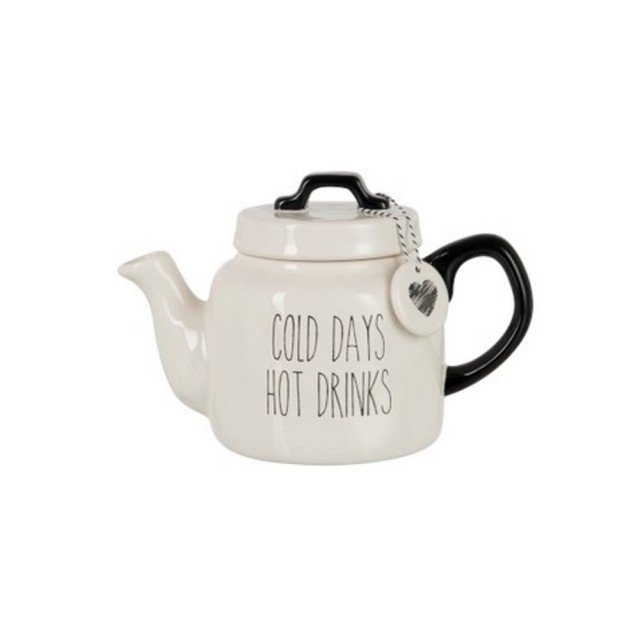 Cold days hot drinks tea pot