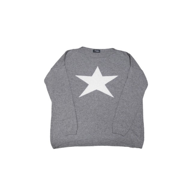 Grey/white star jumper
