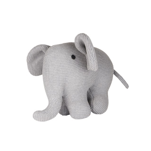 Grey cuddly elephant