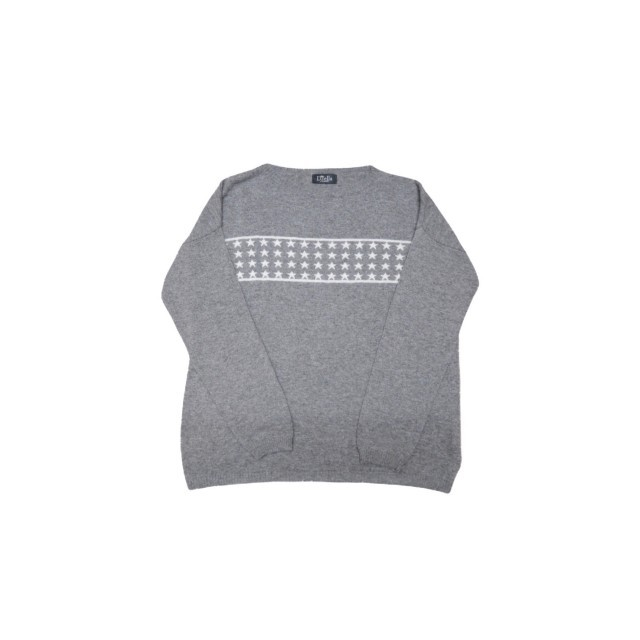 Grey jumper with white stars across front