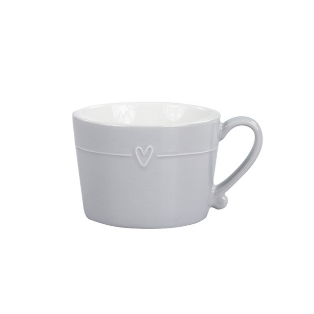 Grey mug with line heart
