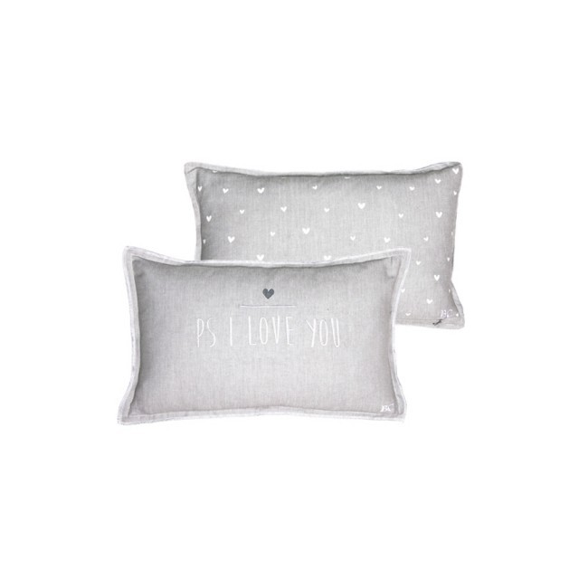 Grey PS I love you cushion