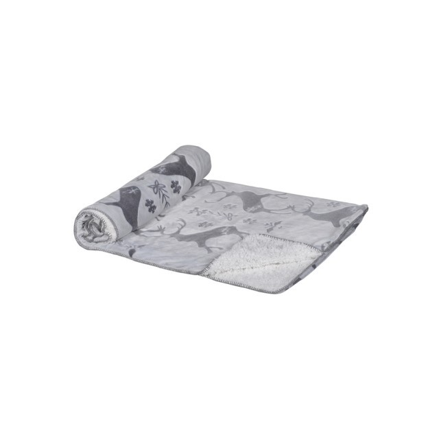 Grey Reindeer throw