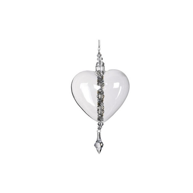 Heart bauble with jewel drop