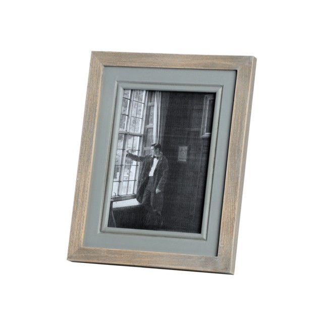 Large wood/grey picture frame
