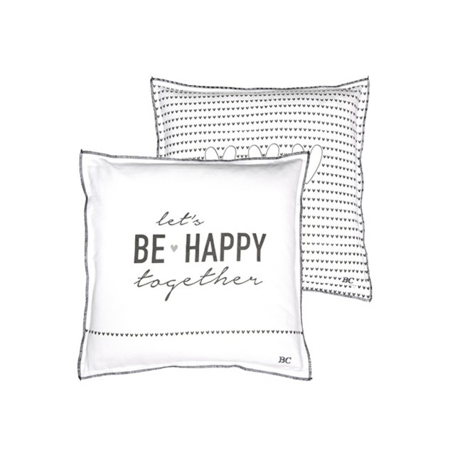 Lets be happy together cushion