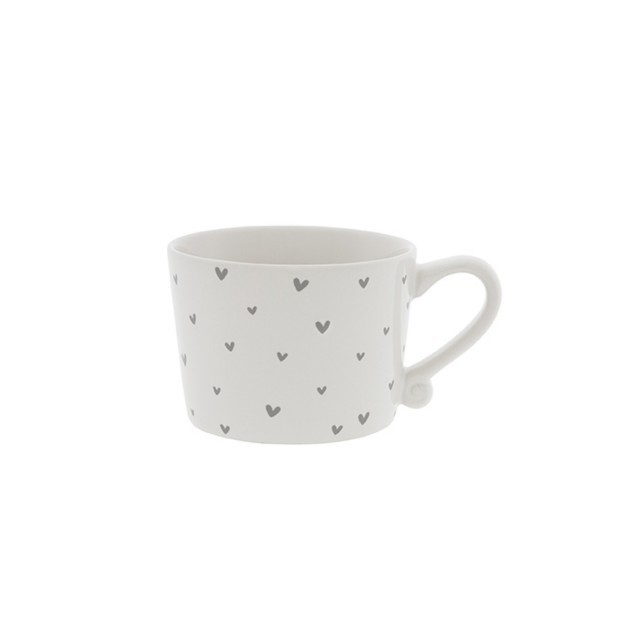 Little grey hearts mug