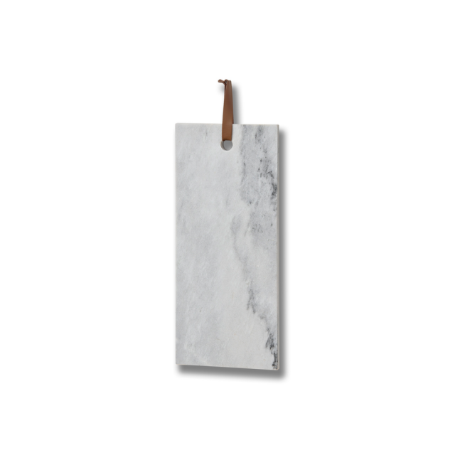 Marble board with leather strap