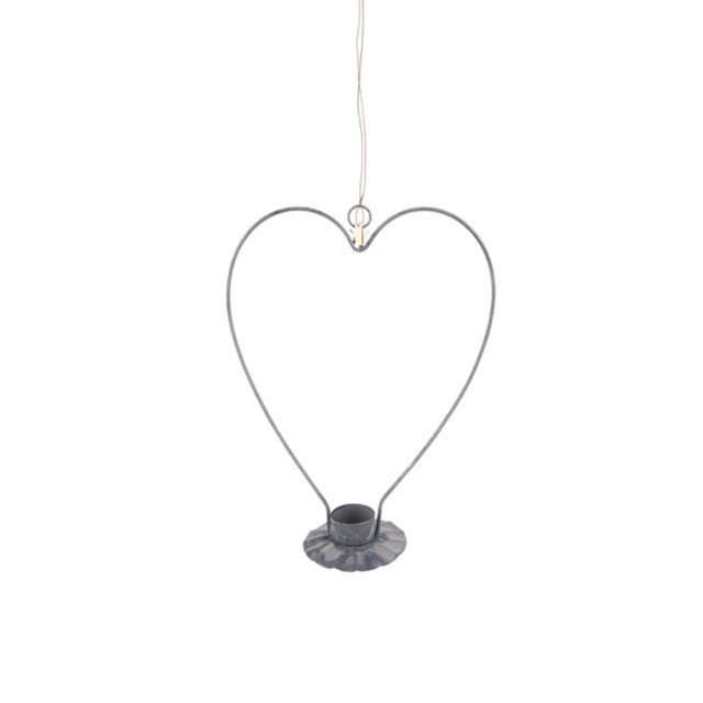 Metal heart t.light holder