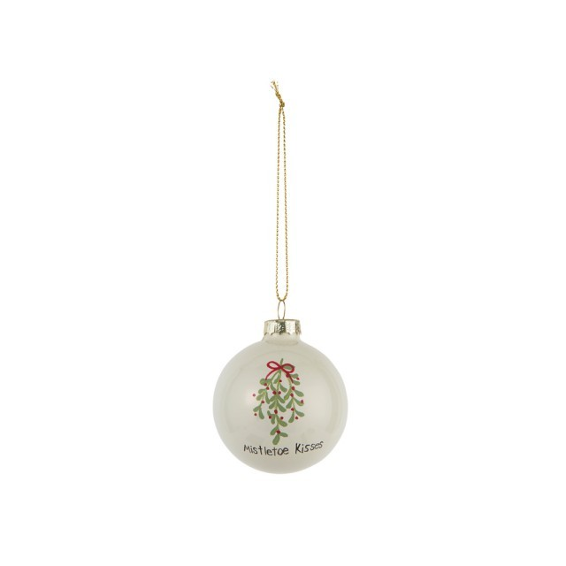 Mistletoe kisses bauble