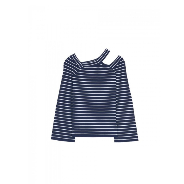 Navy & white stripe pasteque top