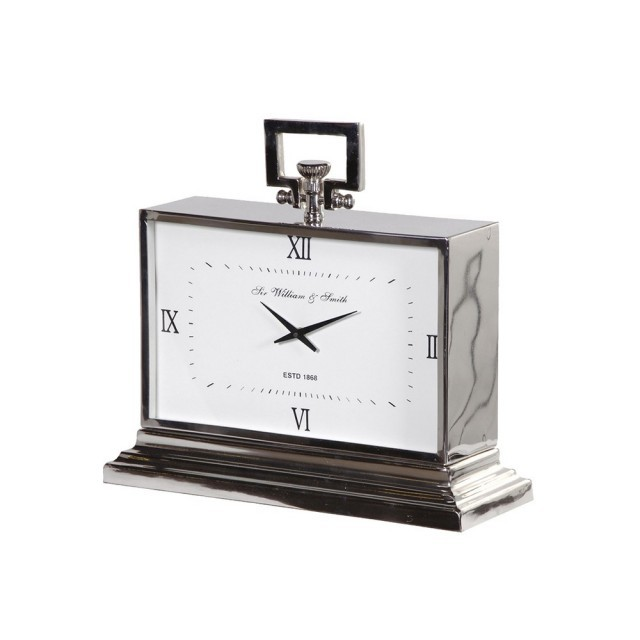 Nickel art deco style clock