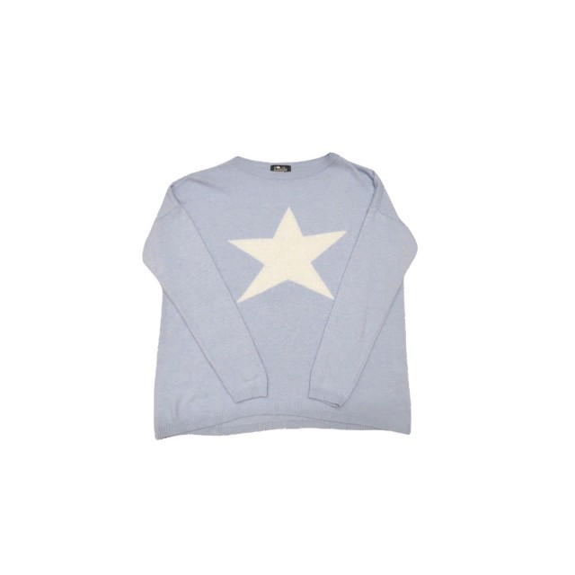 Pale blue/white star jumper