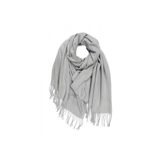 Pale grey cashmere mix scarf