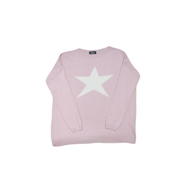 Pink/white star jumper