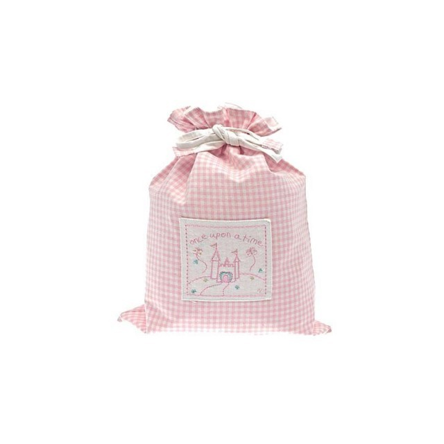 Pink once upon a time drawstring bag
