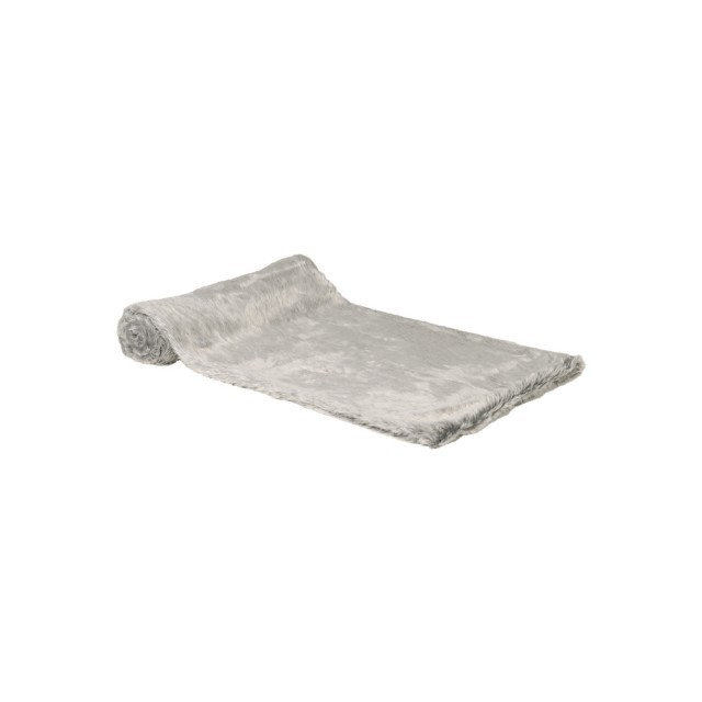 Silver shimmer faux fur throw