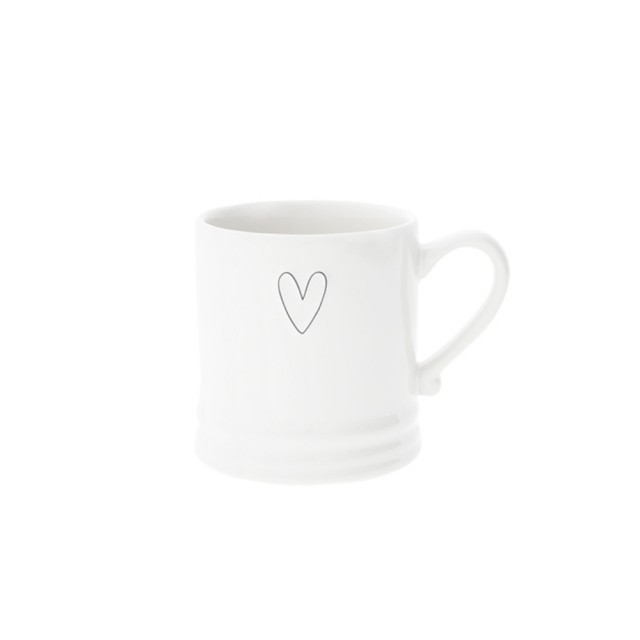Small black heart mug