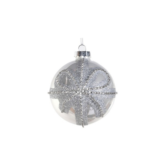 Small glittery bow bauble