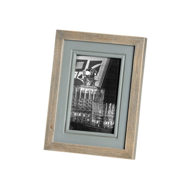 Small wood/grey picture frame