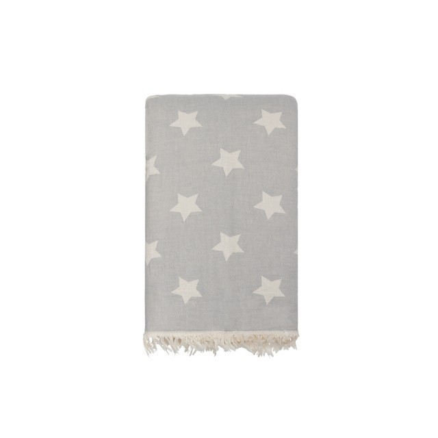 Star fleece throw
