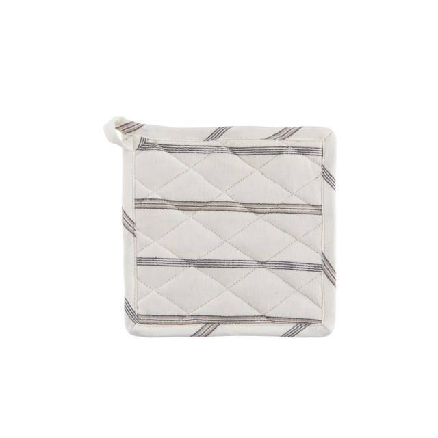 Stripe pot holder