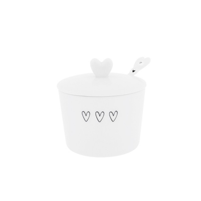 Triple heart sugar bowl with spoon