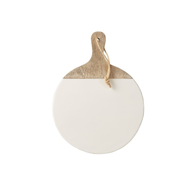 White/wood round paddle board