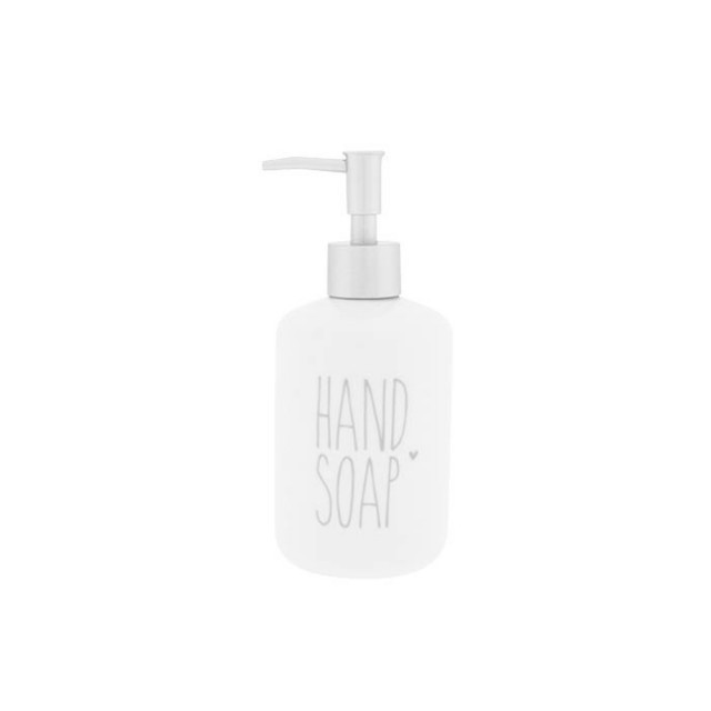 White & Grey soap dispenser